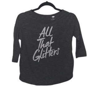 Old Navy All That Glitters 3/4 Sleeve Tee - M